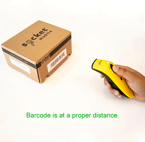 Barcode at a proper distance